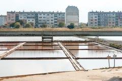 bulgarien Außerhalb der Museumsausstellung des Salzes in Pomorie Stockfotos