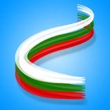 Bulgarien-Flagge stellt patriotisches Europa und Nation dar Stockbild