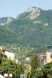bulgarien Gehendes Teil der Stadt von Smolyan Lizenzfreie Stockfotografie
