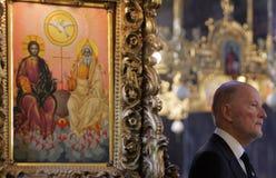 Bulgarien-König Simeon Saxe-Coburg-Gotha Portrait lizenzfreie stockfotografie