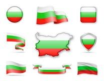 Bulgarien kennzeichnet Sammlung Lizenzfreie Abbildung