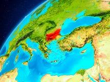 Bulgarien på jord från utrymme Arkivbild
