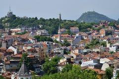 Bulgarien Plovdiv, cityscape arkivfoton