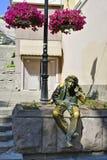 Bulgarien Plovdiv, skulptur royaltyfria bilder