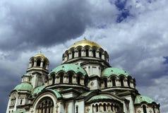 Bulgarien Sofia Alexander Nevsky Cathedral fotografering för bildbyråer