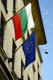 Bulgarien, Sofia, Flagge Stockbilder