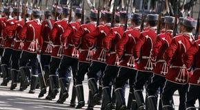 Bulgarien Sofia Guards der Ehre stockfotografie