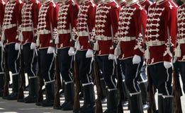 Bulgarien Sofia Guards der Ehre lizenzfreie stockfotos