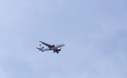 Bulgarien, Varna -14 01 2017 - Flache Landung an Varna-Flughafen A lizenzfreie stockfotografie