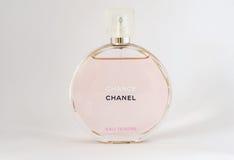 Bulgarien Varna - 10/03/2017 Möjlighet Chanel, doft på en vit Royaltyfria Foton