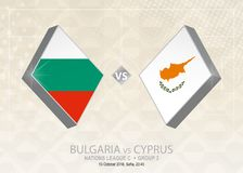 Bulgarien vs Cypern, liga C, grupp 3 Europa fotbollcompetiti Stock Illustrationer