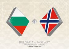 Bulgarien vs Norge, liga C, grupp 3 Europa fotbollcompetiti Stock Illustrationer