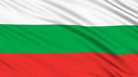 Bulgarienflagga. royaltyfri illustrationer