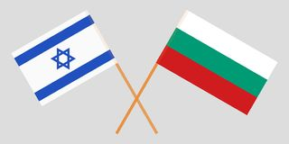 Bulgarije en Israël De Bulgaarse en Israëlische vlaggen Officiële kleuren Correct aandeel Vector vector illustratie