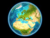 Bulgarije op aarde Stock Foto