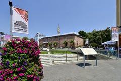 Bulgarije, Plovdiv, de stad in royalty-vrije stock foto