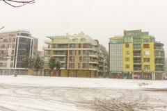 Bulgarije: Pomoriegebouwen, op 31 december Royalty-vrije Stock Afbeeldingen