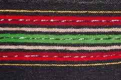 Bulgarische handgemachte Lappenteppiche Stockbild