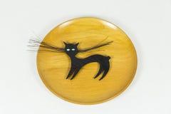 Bulgarische Katze mit dem getrennten Endstück stockfotografie