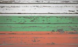 Bulgarische Markierungsfahne Lizenzfreie Stockfotos