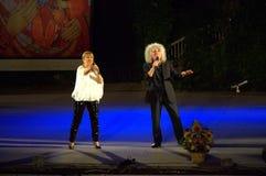 Bulgarische Sängerstadiumsleistung Lizenzfreies Stockfoto