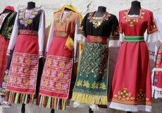 Bulgarische traditionelle Kleidung Lizenzfreies Stockfoto