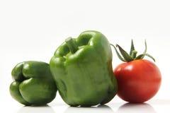 Bulgarischer Pfeffer und Tomate Stockbild