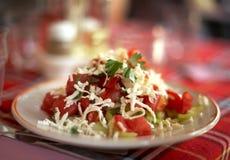 Bulgarischer shopska Salat Stockbild