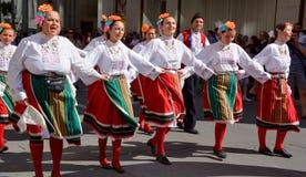 Bulgarisk folk dansare Royaltyfri Fotografi