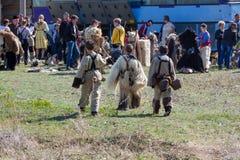 Bulgarisk folklore- och maskeradfestival Varvara royaltyfri foto