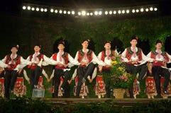 Bulgarisk folkloredans Royaltyfri Foto