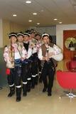 Bulgarisk folklorekapacitet Arkivbild