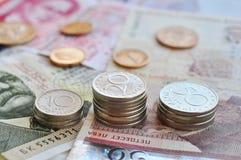 Bulgariska pengar Arkivfoto