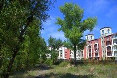 Bulgariskt semesterkomplex, Nestinarka strand Arkivbild