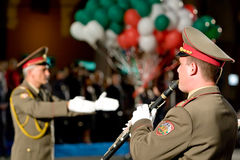 Bulgary military band Stock Images