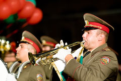 Bulgary military band Royalty Free Stock Photo