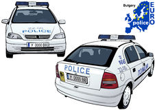 Bulgary Police Car. Colored Illustration from Series Euro police, Vector Royalty Free Stock Photo
