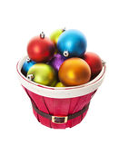 Bulging Basket of Balls with Clipping Path Royalty Free Stock Photos
