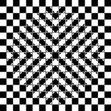 Bulging checkerboard optical illusion. Bulging checkerboard illusion. The checkerboard is fully regular, each check is a regular square and the bulge is a Stock Images