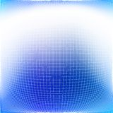 Bulging grid. Abstract editable vector background of a bulging grid pattern Stock Photo