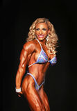 Bulging Latina Beauty Bust-Out Bodybuilding Champion Royalty Free Stock Photos