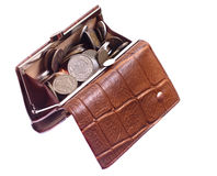 Bulging purse Royalty Free Stock Image
