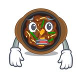 Bulgogi receoso na forma dos desenhos animados da ilustração royalty free