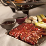 Bulgogi setup stock photo