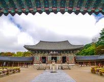 Bulguksa świątynia Gyeongju Obraz Royalty Free