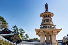Bulguksa Stone pagoda Dabotap. Gyeongju city south korea Stock Images