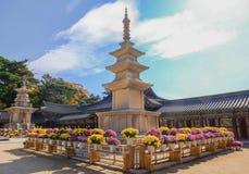 Bulguksa-Tempel, Welterbe lizenzfreies stockbild