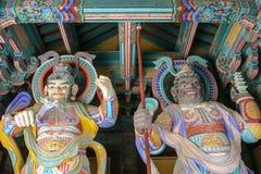Bulguksa temple guards statues in South Korea stock photography