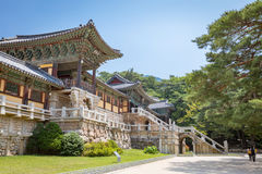 Bulguksa temple in Gyeongju, South Korea - Tour des royalty free stock image