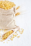 Bulgur background Royalty Free Stock Image
